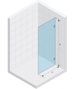 Ścianka prysznicowa 140 RIHO Scandic S400 szkło przezroczyste