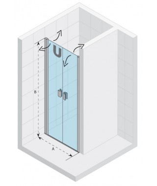 Drzwi prysznicowe 90 RIHO Nautic N111 szkło przezroczyste