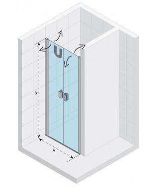 Drzwi prysznicowe 100 RIHO Nautic N111 szkło przezroczyste