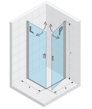 Drzwi prysznicowe 90 RIHO Nautic N209 lewe, szkło przezroczyste