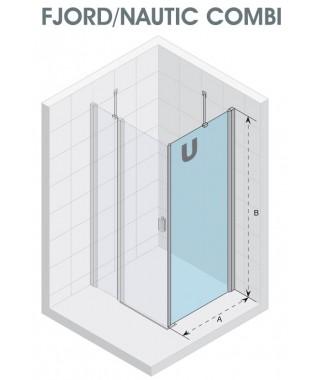 Ścianka prysznicowa 90 RIHO Fjord / Nautic Combi szkło przezroczyste