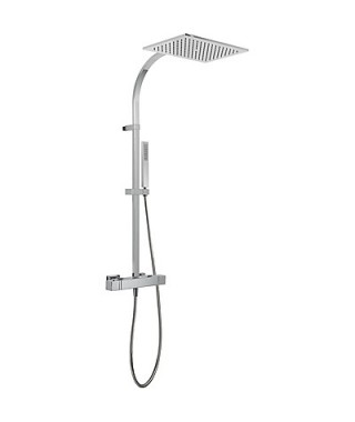 Zestaw prysznicowy TRES Slim-Tres z baterią termostatyczną chrom