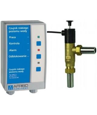 Elektroniczny czujnik niskiego poziomu wody WMS 2-1 z blokadą AFRISO