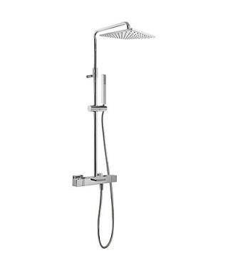 Zestaw prysznicowy TRES Cuadro-Tres termostatyczny chrom