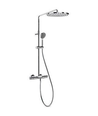 Zestaw prysznicowy TRES Max-Tres termostatyczny natryskowy chrom