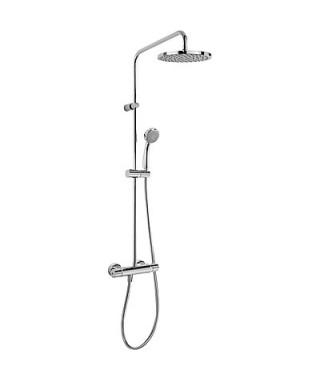 Zestaw prysznicowy TRES Flat-Tres termostatyczny. głowica 200 mm. słuchawka 80 mm. chrom