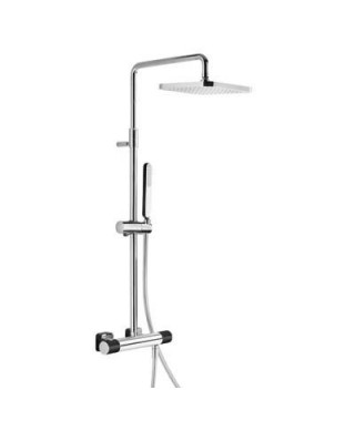 Zestaw prysznicowy TRES Loft Colors termostatyczny. czarna