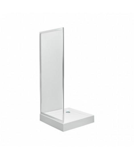 Ścianka boczna KOŁO FIRST 80 Szkło hartowane satyna - profile srebrne połysk