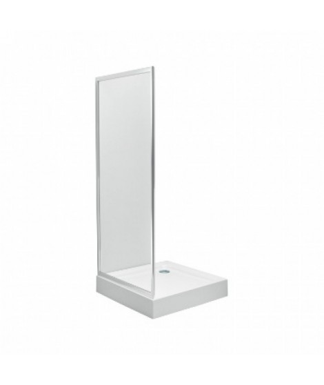 Ścianka boczna KOŁO FIRST 90 Szkło hartowane satyna - profile srebrne połysk
