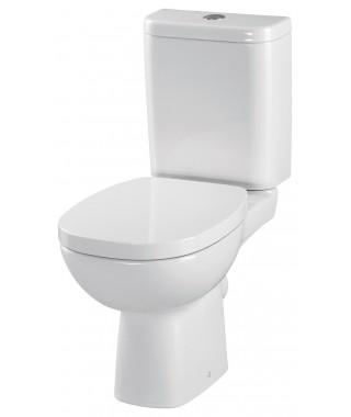 WC kompakt CERSANIT FACILE 3/6L poziomy + deska antybakteryjna wolnoopadającą