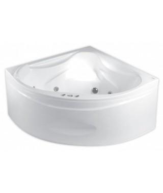 Wanna symetryczna POOLSPA FRANCJA 150x150cm. z hydromasażem. system SMART 1 standard. biała