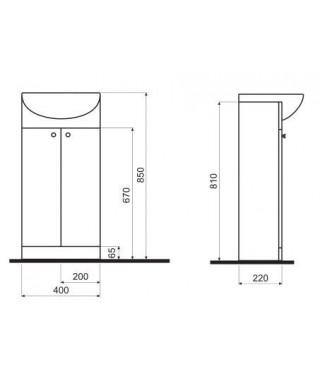 Zestaw łazienkowy KOŁO SOLO 40 cm