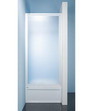 Drzwi prysznicowe 70x185cm SANPLAST DJ-c. profil biały ew. wzór szyby Pearl