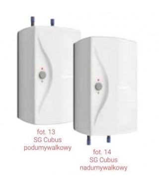 Elektryczny podgrzewacz ciśnieniowy z zaworem bezpieczeństwa GALMET CUBUS SG 5 nadumywalkowy