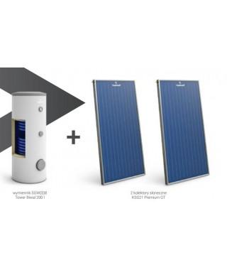 Zestaw solarny GALMET wymiennik SGW(S)B Tower Biwal 400 l (szary) + 4 kolektory słoneczne KSG21 Premium GT