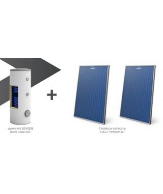 Zestaw solarny GALMET wymiennik SGW(S)B Tower Biwal 400 l (biały) + 3 kolektory słoneczne KSG27 Premium GT