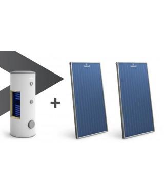 Zestaw solarny GALMET wymiennik SGW(S)B Tower Biwal 400 l (szary) + 3 kolektory słoneczne KSG27 GT