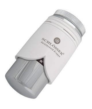 Głowica termostatyczna SCHLOSSER BRILLANT M30x1.5 biała-chrom