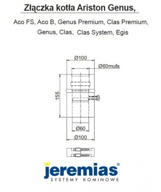 Adapter 60/100-60/100 do kotła Ariston JEREMIAS