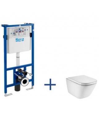 Zestaw podtynkowy DUPLO + miska WC podwieszana GAP Rimless A89009000R