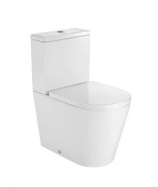 Miska WC o/podwójny do kompaktu WC Round Compacto ROCA INSPIRA