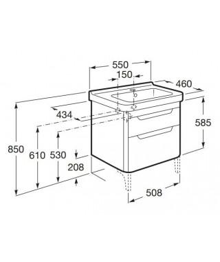 Zestaw łazienkowy ROCA DAMA-N Unik 55cm antracyt połysk