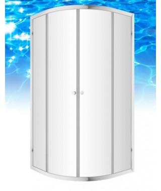 Kabina prysznicowa szklana półokrągła 80x80x185cm OMNIRES BRONX S203080CRTR