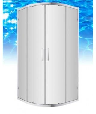 Kabina prysznicowa szklana półokrągła 80x80x190cm OMNIRES CHELSEA NDF80X
