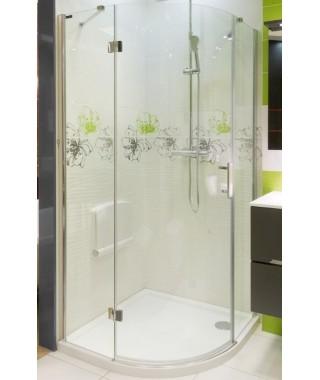 Kabina prysznicowa szklana półokrągła 100x100x185cm OMNIRES MANHATTAN ADF10X Lux-T