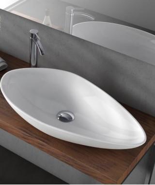 CERASTYLE OLIVE umywalka ceramiczna nablatowa 75 cm 071300