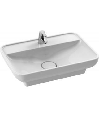 Umywalka prostokątna nablatowa / wpuszczana 60 cm CERASTYLE LAL