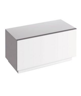 Szafka stojąca boczna pozioma KERAMAG iCON 89cm, biały połysk