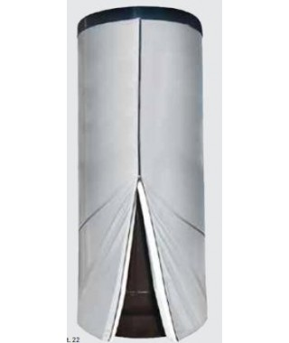 Wymiennik C.W.U. pionowy wolnostojący z wężownicą spiralną GALMET TOWER SLIM 1000l na dennicy Ø 790 mm w rozbieralnej miękkiej