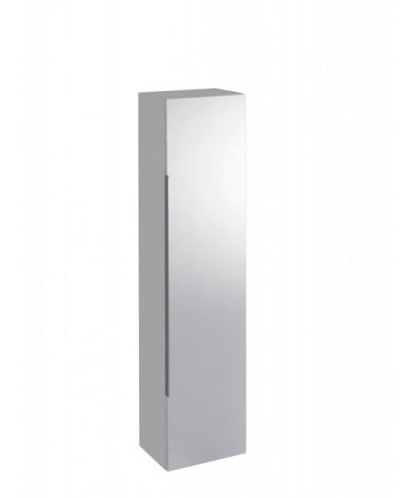 Szafka wisząca boczna, wysoka z lustrem KERAMAG iCON 150cm, biały połysk