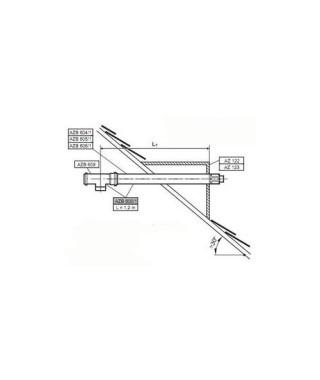 Zestaw powietrzno-spalinowy do poziomego wyprowadzenia przez ścianę L1,2 m AZB 600/2