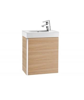 Mini Zestaw łazienkowy ROCA Unik z drzwiami 45 cm dąb tekstura