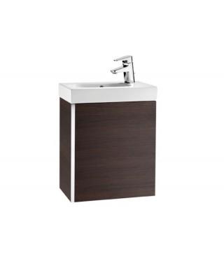 Mini Zestaw łazienkowy ROCA Unik z drzwiami 45 cm wenge tekstura