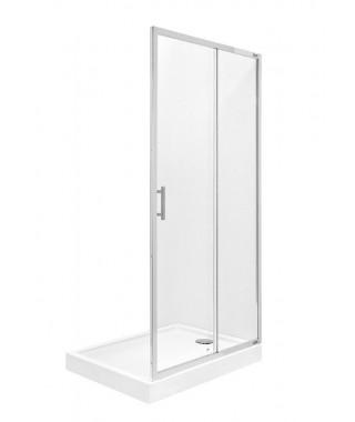 Drzwi prysznicowe składane dwuczęściowe ROCA TOWN BIFOLD 80x195cm z powłoką MaxiClean