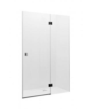 Drzwi prysznicowe wnękowe ROCA METROPOLIS 80cm z polem stałym z powłoką MaxiClean
