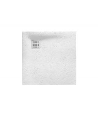 Brodzik kwadratowy kompozytowy ROCA TERRAN 80x80x2,6cm biały