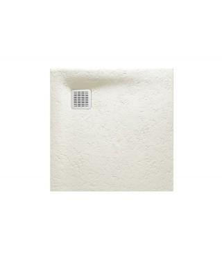 Brodzik kwadratowy kompozytowy ROCA TERRAN 80x80x2,6cm złamana biel