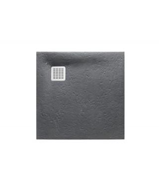 Brodzik kwadratowy kompozytowy ROCA TERRAN 80x80x2,6cm szary łupek