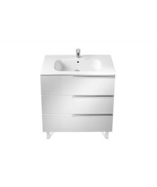 Zestaw Unik 80cm z 3 szufladami ROCA Victoria-N Family biały połysk