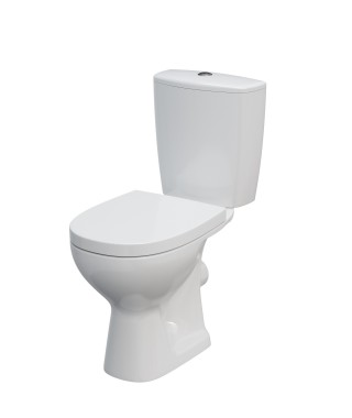 WC kompakt CERSANIT ARTECO odpływ poziomy + deska duroplast