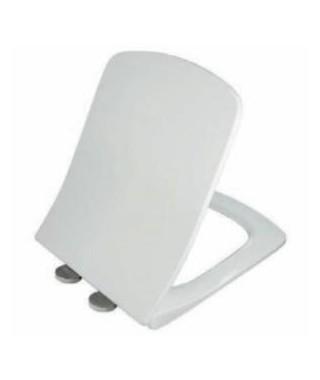 Deska sedesowa prostokątna NOVA PRO SLIM twarda, wolnoopadająca, antybajkteryjna, zawiasy metalowe