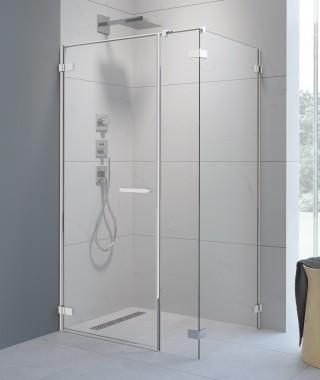Drzwi prysznicowe ARTA KDS I 130cm RADAWAY ze ścianką stałą ,lewe