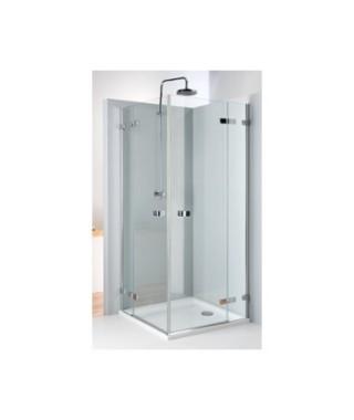 Kabina kwadratowa 90 cm KOŁO NEXT szkło przeźroczyste - profil srebrny połysk