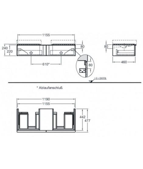 Szafka podumywalkowa wisząca KERAMAG iCON 59.5cm, platynowy połysk