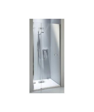 Drzwi wnękowe KOŁO NEXT 80. lewostronne Szkło przezroczyste. profil srebrny połysk