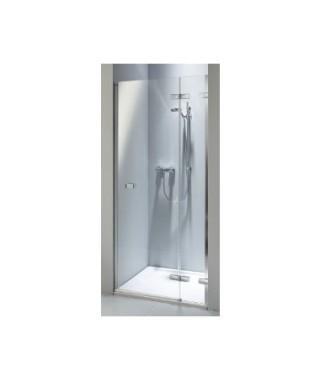 Drzwi wnękowe KOŁO NEXT 80. prawostronne Szkło przezroczyste. profil srebrny połysk